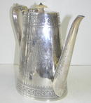 Antique English Mappin Brothers Silverplate Coffee Pot