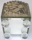 Antique Venetian Etched Mirrored Planter