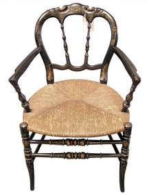 Ebonized Aesthetic American Fancy Arm Chair