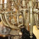 Antique Louis XVI Style 16-Light Bronze Chandelier After Pierre Gouthiere
