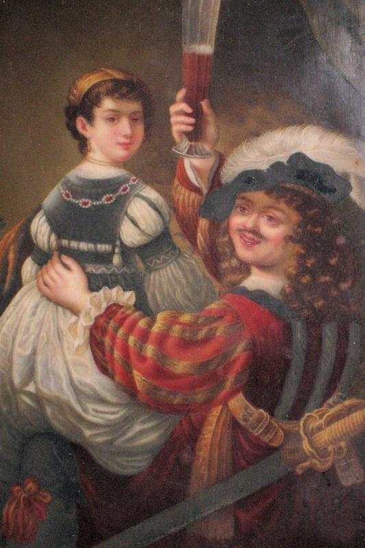 KPM Porcelain Portrait Plaque of Rembrandt & Wife