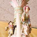 Antique Rococo Revival Figural Berlin Porcelain Chandelier