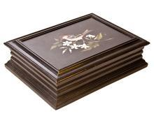 Antique Italian Pietra Dura Inlaid Ebonized Cigar Box