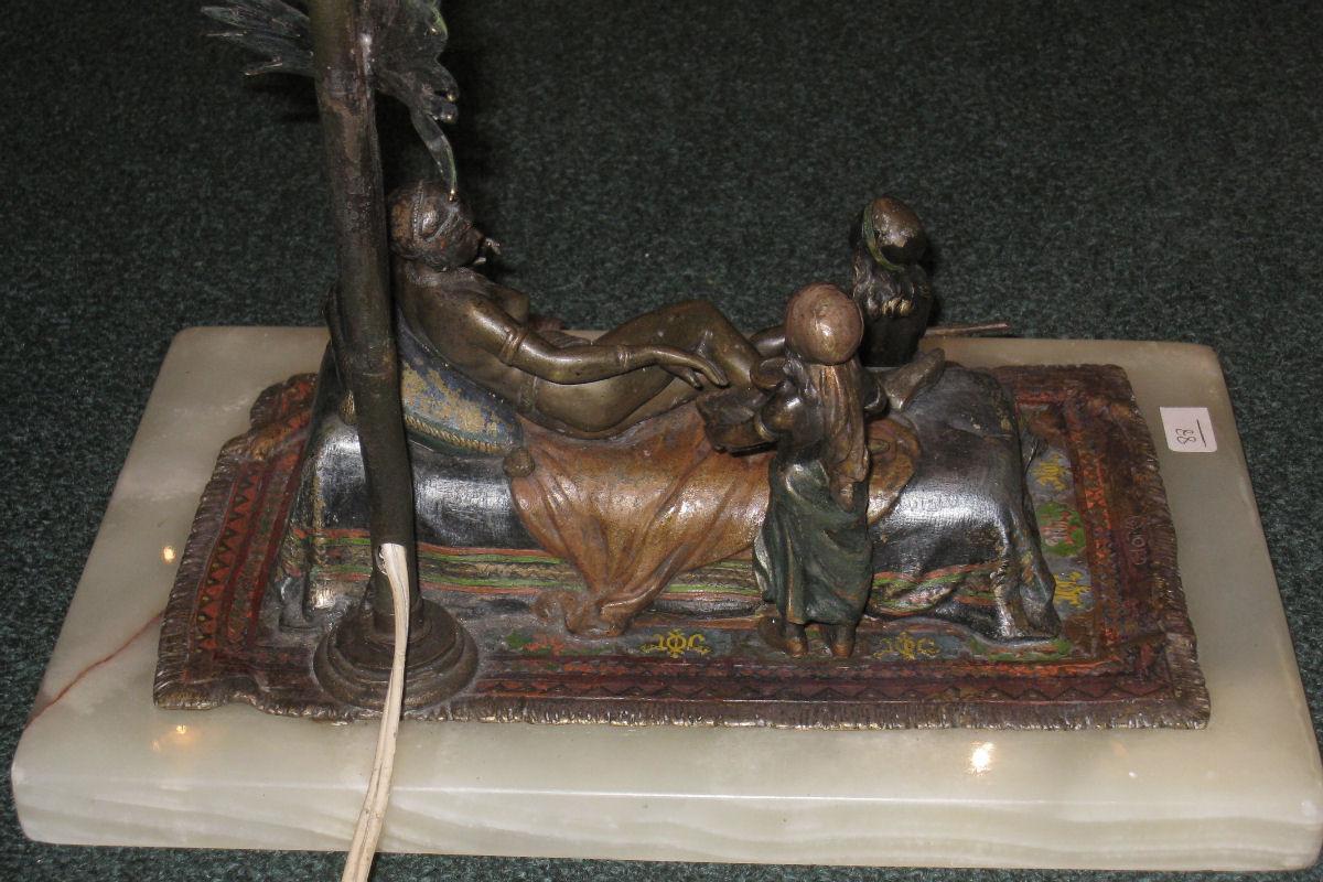 Austrian Ottoman Princess Orientalist Bronze Lamp