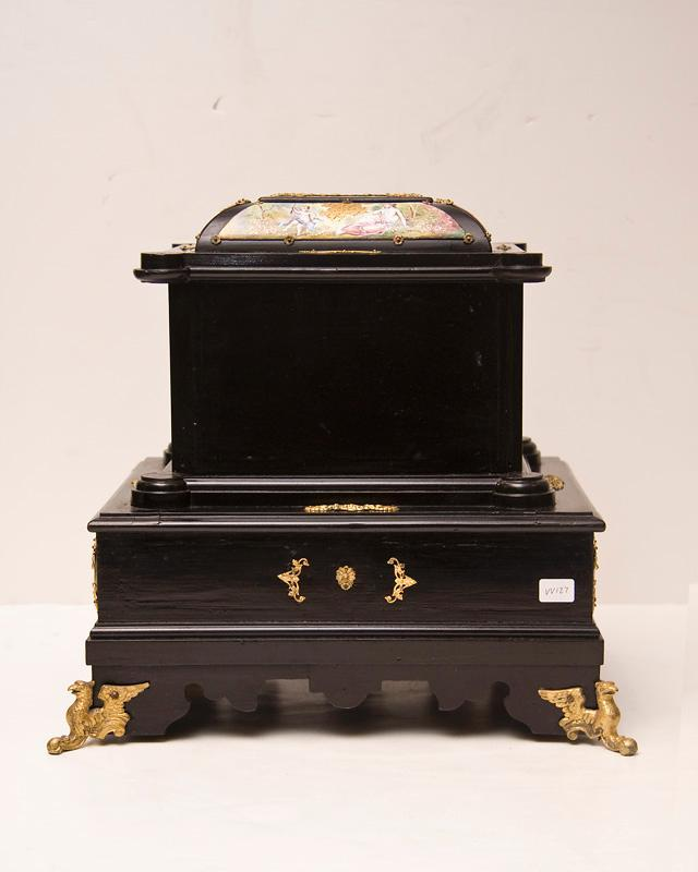 Antique Austrian Viennese Ebonized & Enamel Jewelry Chest