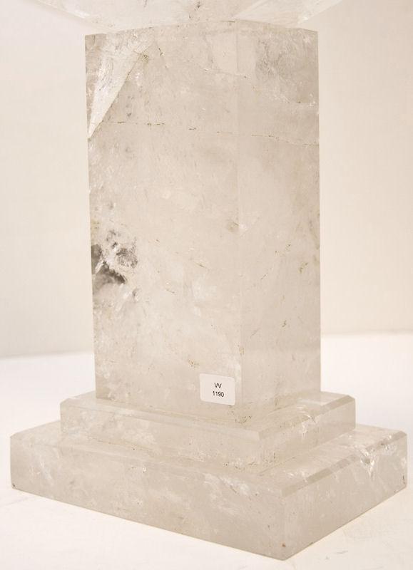 Pair Modern Rock Crystal Candelabra