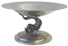 Antique TUTTLE Sterling Silver Fish Centerpiece