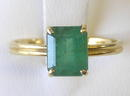Emerald Cut Emerald 14K Gold Ring