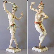 Pair Hutschenreuther Balinese Dancers