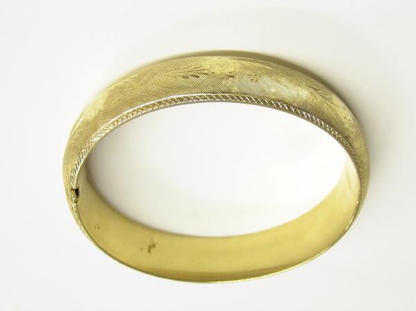 Rine 14K Gold Bracelet w Floral Designs