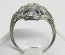 Diamond & Sapphire 18K White Gold Ring