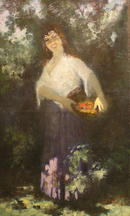 1949 Peasant Portrait by Hungarian Georges S.