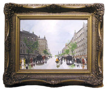 BERKES Paris Streetscape Oil Painting