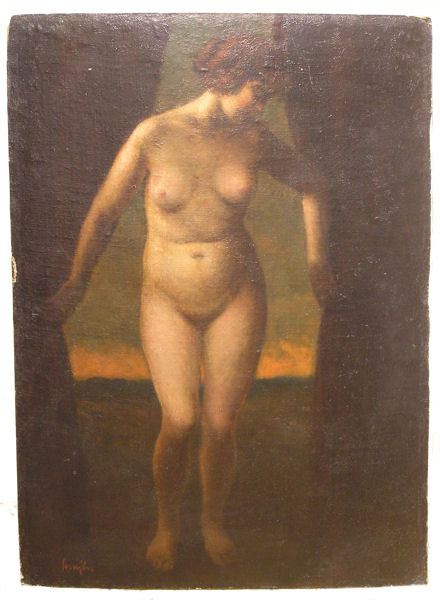 Ferenc Semjen Female Oil on Board
