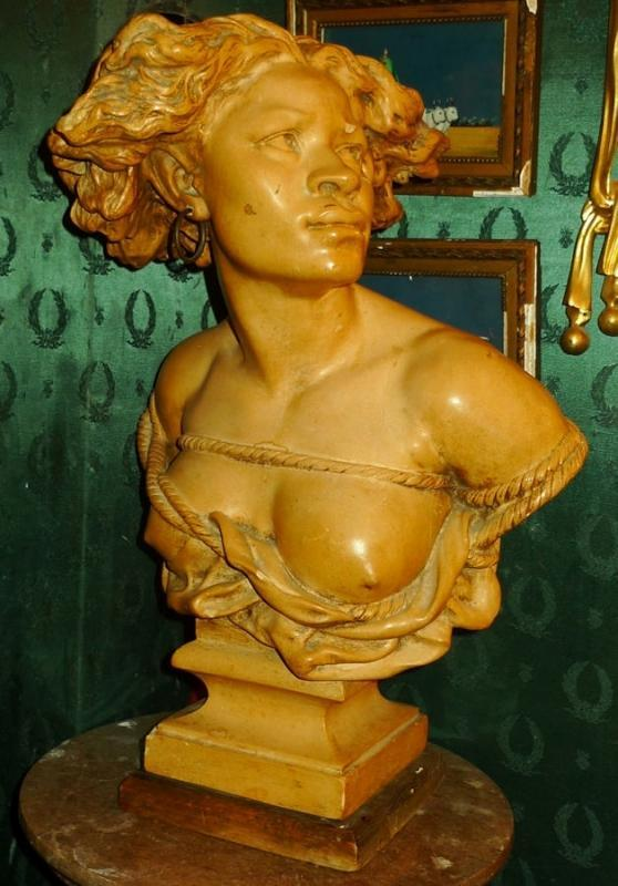 La Negresse Plaster Bust Sculpture After Jean Baptiste Carpeaux