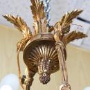 Antique French Regency Empire Style 8-Candle Gilt Bronze & Marble Chandelier