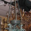 Antique Italian Grand Tour Bronze Lantern Chandelier