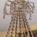 Antique Russian Empire Style Bronze Crystal Chandelier