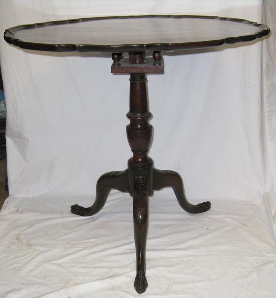 Antique Mahogany Tilt Top Tripod Table