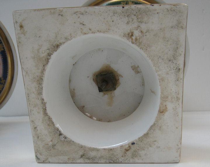 Matched Pair of Neoclassical Paris Campana Form Porcelain Vases