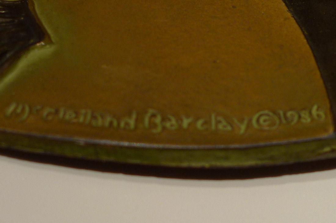 McClelland Barclay Art Deco Patinated Metal Plaques