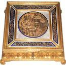 Antique Romantic French Gilt Bronze Jewelry Casket Dresser Box