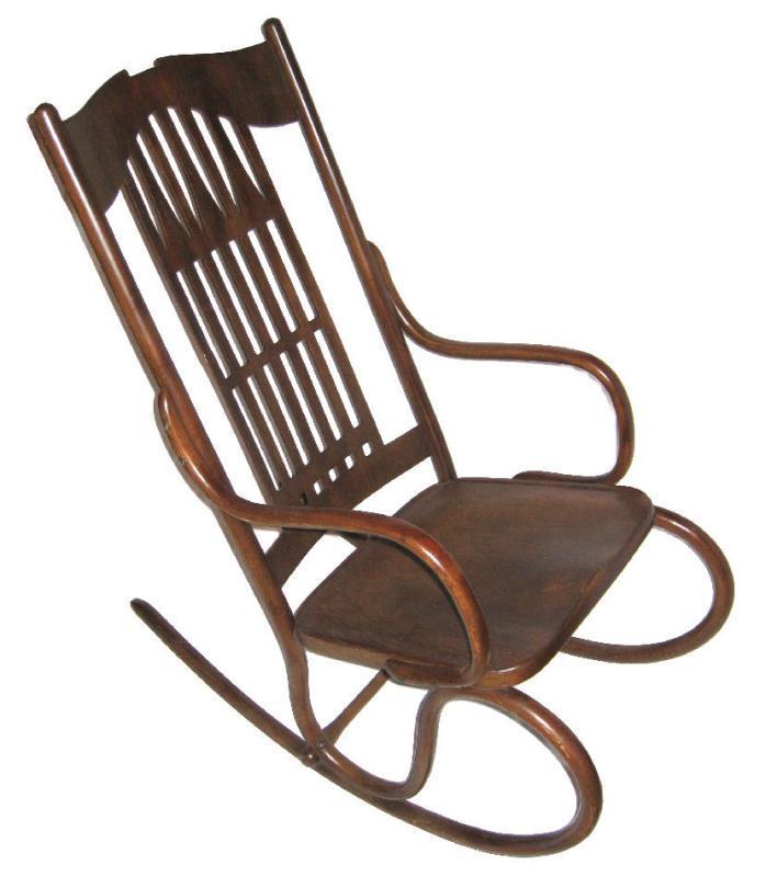 Gustav Siegel Austrian Bentwood Rocker Rocking Chair For Kohn