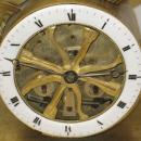Anitque French Directoire Empire Period Chariot Form Bronze Mantel Clock