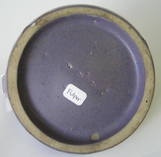 Fulper Violet Ceramic Handled Candlestick