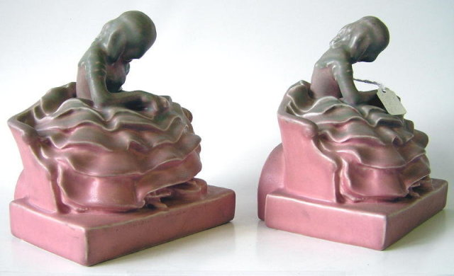 Rookwood McDonald Figural Bookends