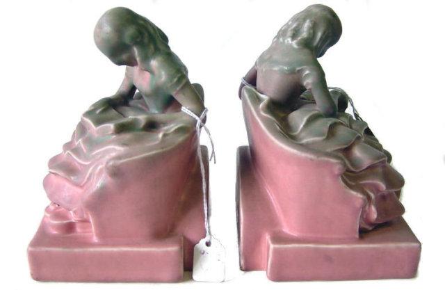 Rookwood McDonald Figural Bookends