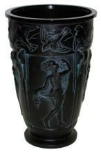 Marius Ernest Sabino La Danse Neoclassical Amethyst Glass Vase