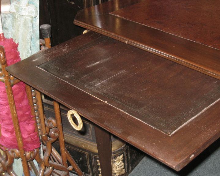 Antique Empire Style Mahogany Bureau Plat Desk