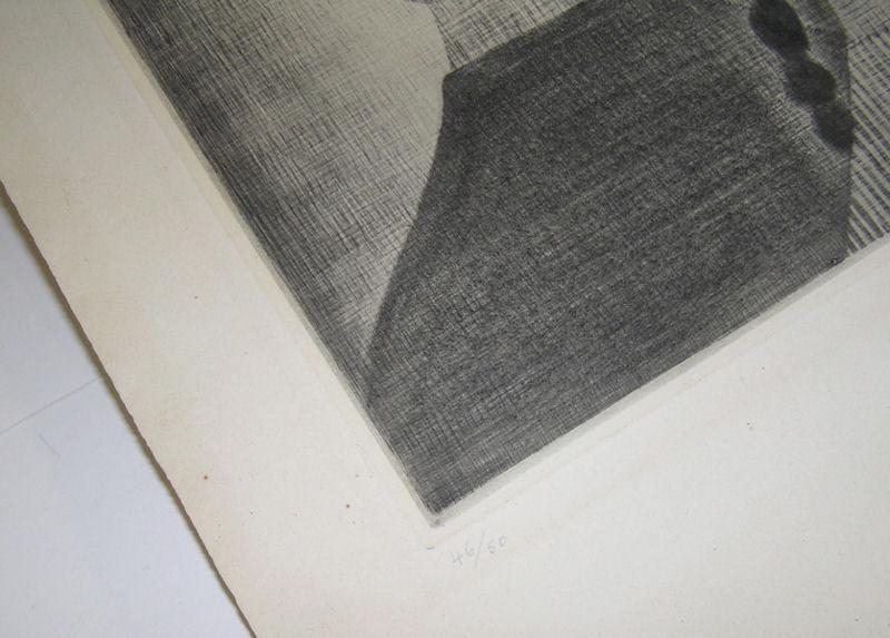 Hamaguchi Framed Mezzotint Print