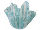 Seguso Green Fazzoletto Filigrana Vase