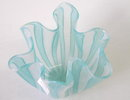 Seguso Green Fazzoletto Filigrana Vase