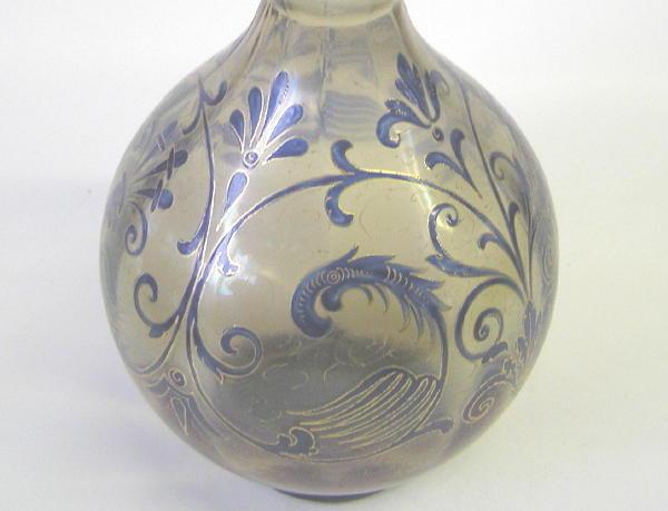 Fritz Heckert Art Nouveau Glass Vase