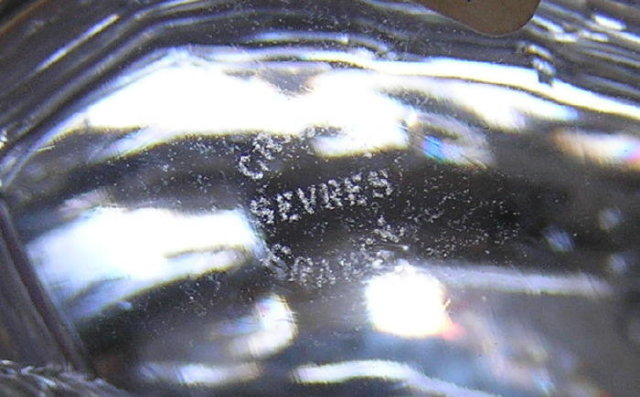 Large SEVRES Crystal Glass Fish Figurine
