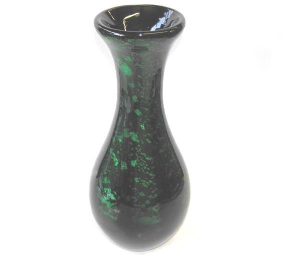 Giorgio Ferro Green & Black Glass Vase
