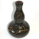 Giorgio Ferro Murano Brown & Gold Glass Vase