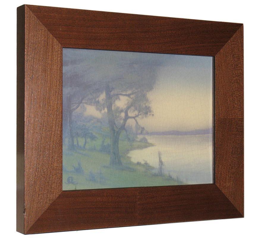 1917 Rookwood Scenic Vellum Glaze Plaque by Sallie Coyne