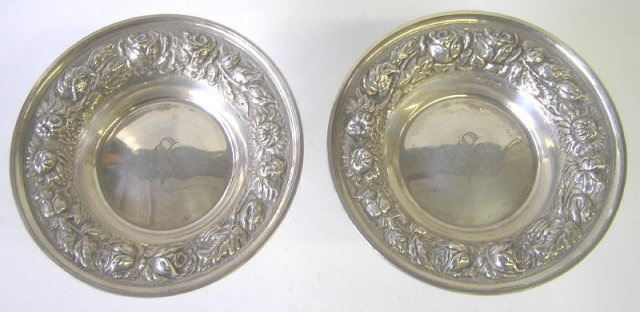 Pair Stieff Baltimore Sterling Compotes