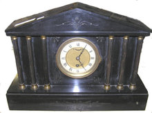 Black Slate Neoclassical Mantle Clock
