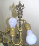Pair Gilt Bronze Neo-Classical Candelabra Lamps