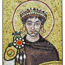 Italian Byzantine Emperor Justinian Mosaic Plaque by Carlo Signorini of Ravenna