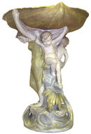 Royal Dux Porcelain Figural Centerpiece