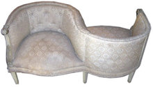 PAIR Antique Tete a Tete Confidante Sofas