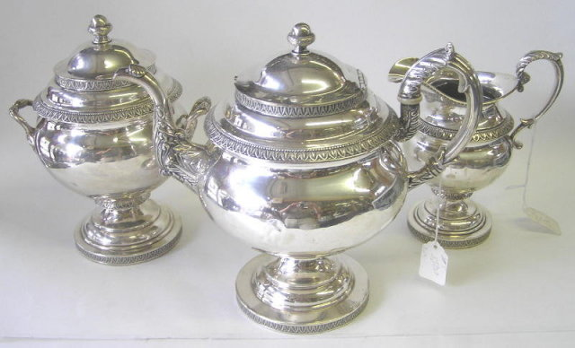 1840 Bailey & Kitchen Silver Tea Set