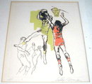 Leroy Neiman Artist Proof Basketball Etching