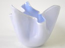 Venini Blue White Fazzoletto Napkin Vase